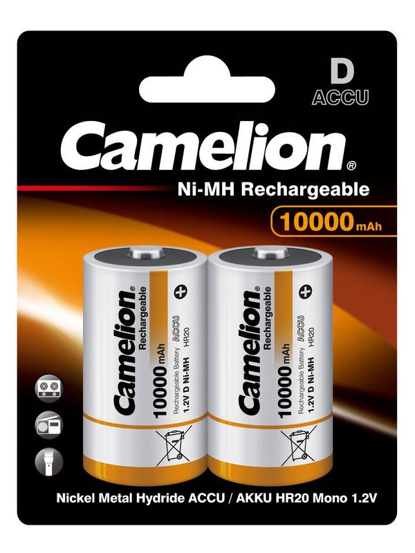 Аккумулятор D - Camelion 10000mAh Ni-Mh BL-2 NH-D10000BP2 (2 штуки) 6185 аккумулятор