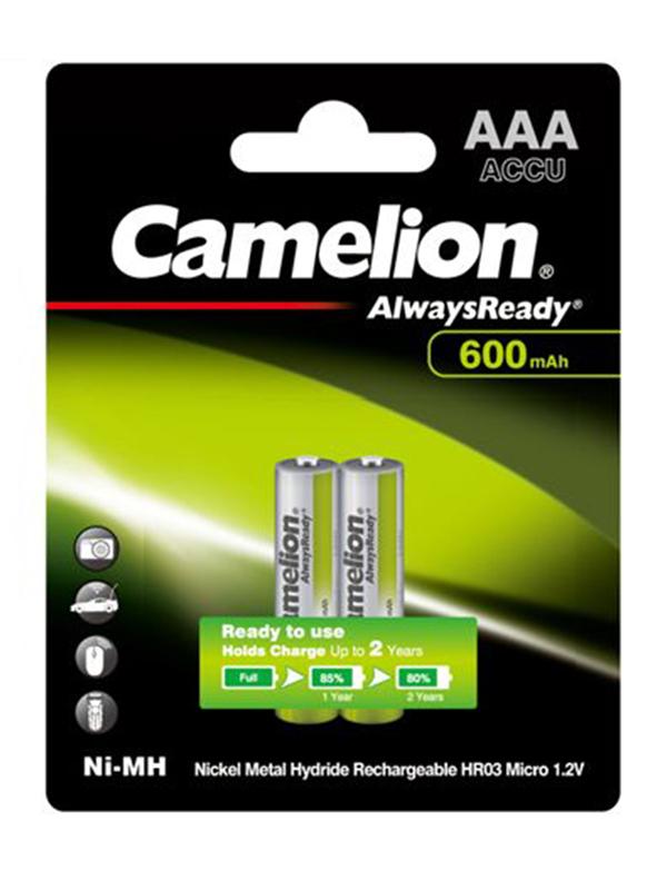 Аккумулятор AAA - Camelion Always Ready 1.2V 600mAh Ni-Mh BL-2 NH-AAA600ARBP2 (2 штуки) 11605