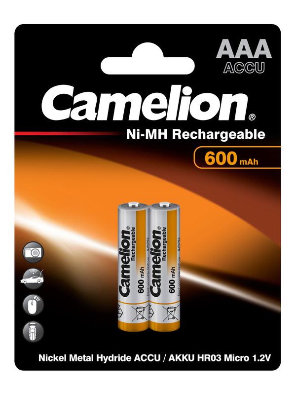 Аккумулятор AAA - Camelion 1.2V 600mAh Ni-Mh BL-2 NH-AAA600BP2 (2 штуки) 2695