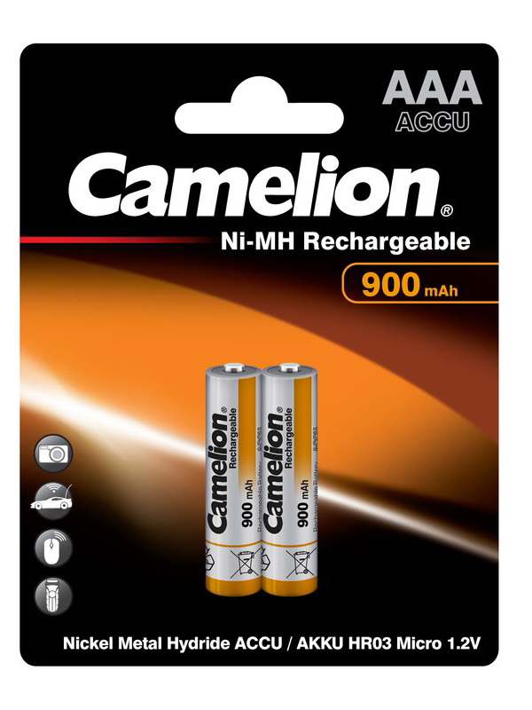 Аккумулятор AAA - Camelion 1.2V 900mAh Ni-Mh BL-2 NH-AAA900BP2 (2 штуки) 5223