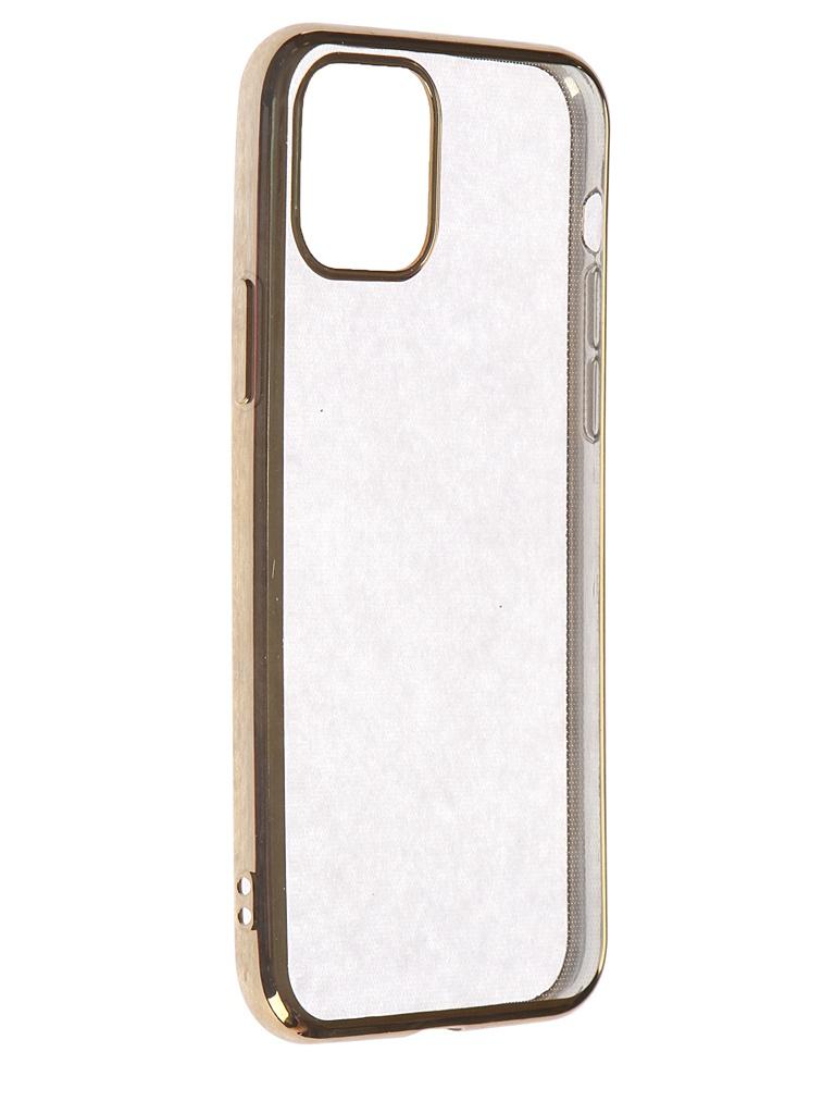 Чехол iBox для APPLE iPhone 11 Pro Blaze Silicone Gold Frame УТ000018936