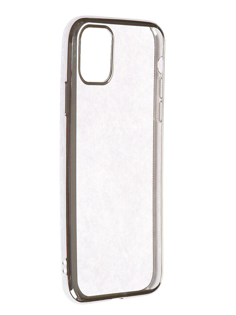 Чехол iBox для APPLE iPhone 11 Blaze Silicone Silver Frame УТ000018934