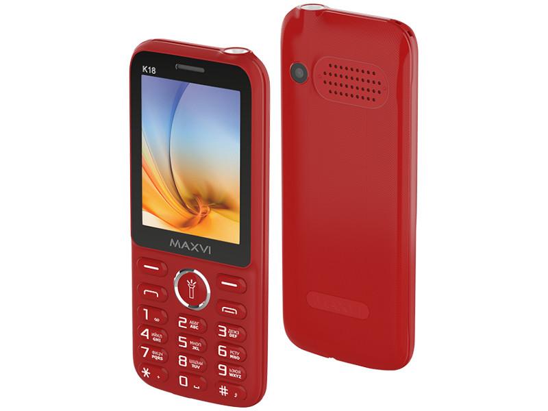 Сотовый телефон Maxvi K18 Red