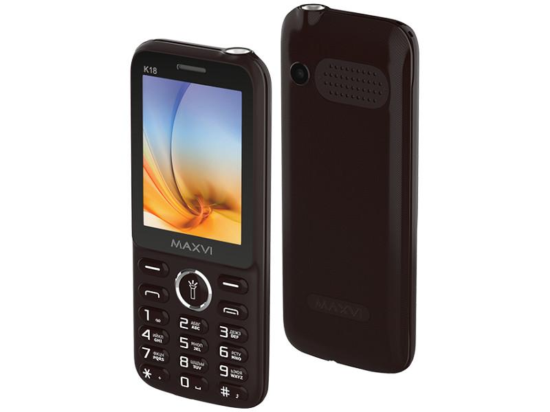 Сотовый телефон Maxvi K18 Brown