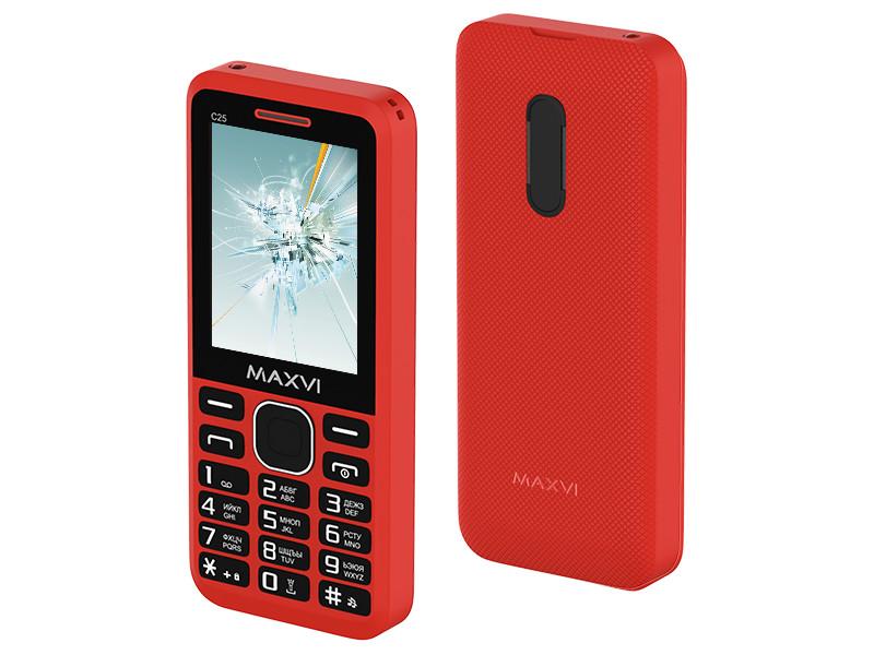 Сотовый телефон MAXVI C25 Red сотовый телефон maxvi b1 red