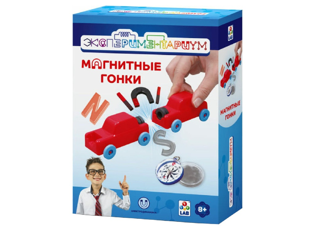 Игра 1Toy Экспериментариум Магнитные гонки Т14048
