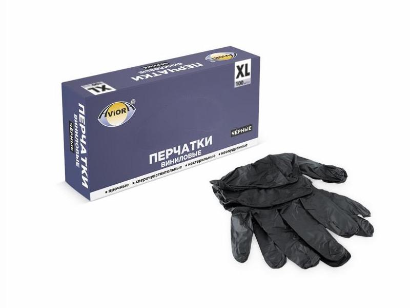 Перчатки виниловые Aviora 100шт р.XL 402-737
