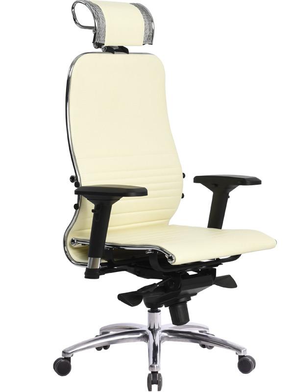 Компьютерное кресло Метта Samurai K-3.03 с 3D подголовником Beige