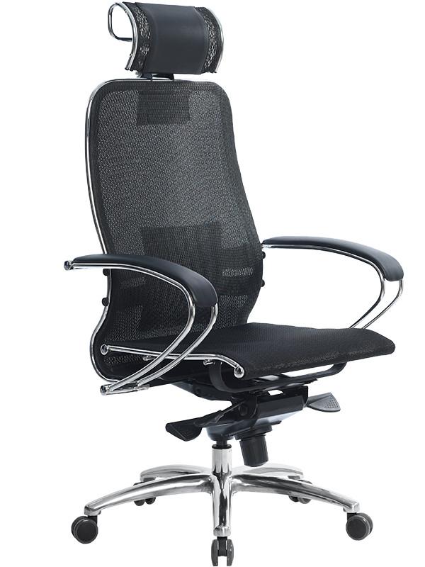 Компьютерное кресло Метта Samurai S-2.03 Plus с 3D подголовником Black