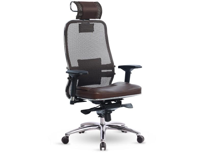 Компьютерное кресло Метта Samurai SL-3.03 с 3D подголовником Dark Brown