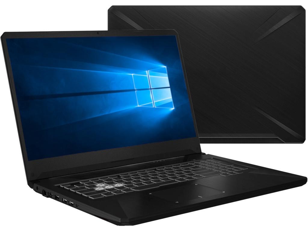 Ноутбук ASUS TUF FX705DD 90NR02A2-M01920 (AMD Ryzen 5 3550H 2.1GHz/16384Mb/512Gb SSD/No ODD/nVidia GeForce GTX 1050 3072Mb/Wi-Fi/Cam/17.3/1920x1080/Windows 10 64-bit)