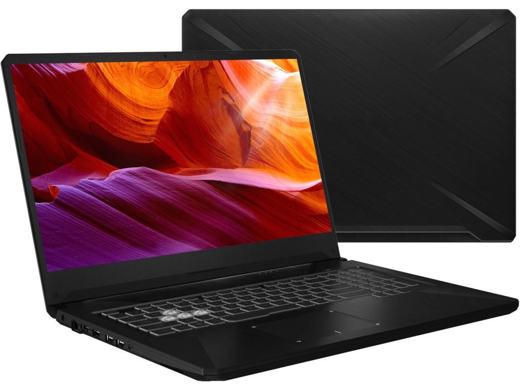 Ноутбук ASUS TUF FX705DD 90NR02A2-M02590 (AMD Ryzen 5 3550H 2.1GHz/16384Mb/1000Gb + 256Gb SSD/No ODD/nVidia GeForce GTX 1050 3072Mb/Wi-Fi/Cam/17.3/1920x1080/No OS)