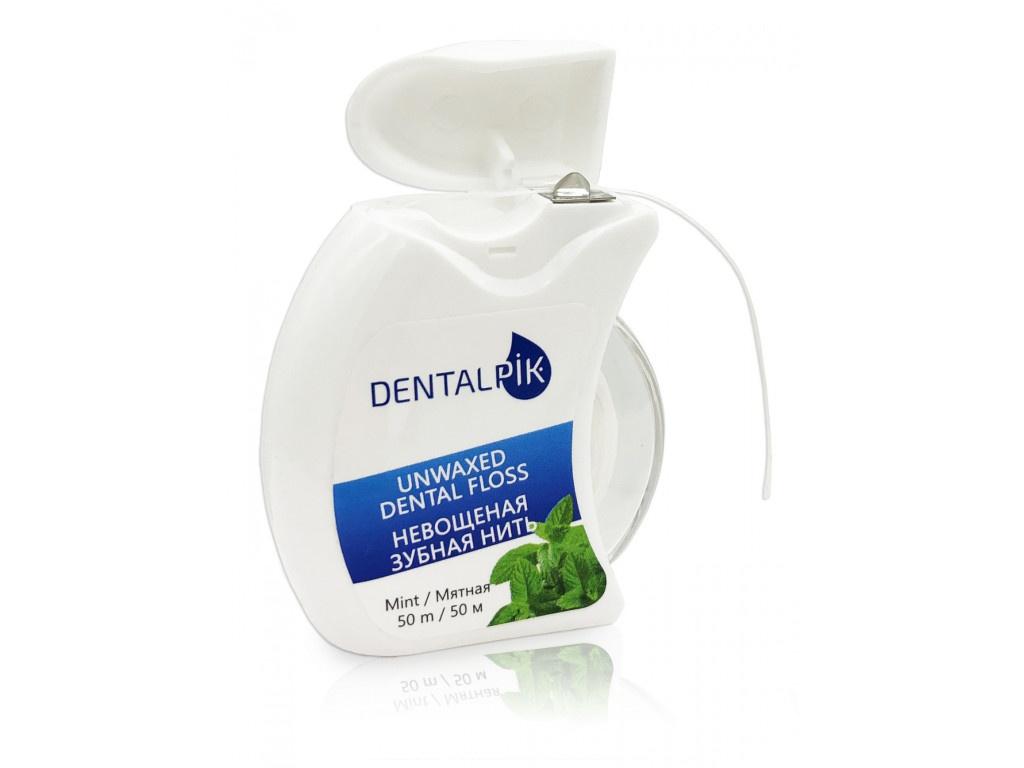 Зубная нить Dentalpik Floss Mint Unwaxed 05.4323