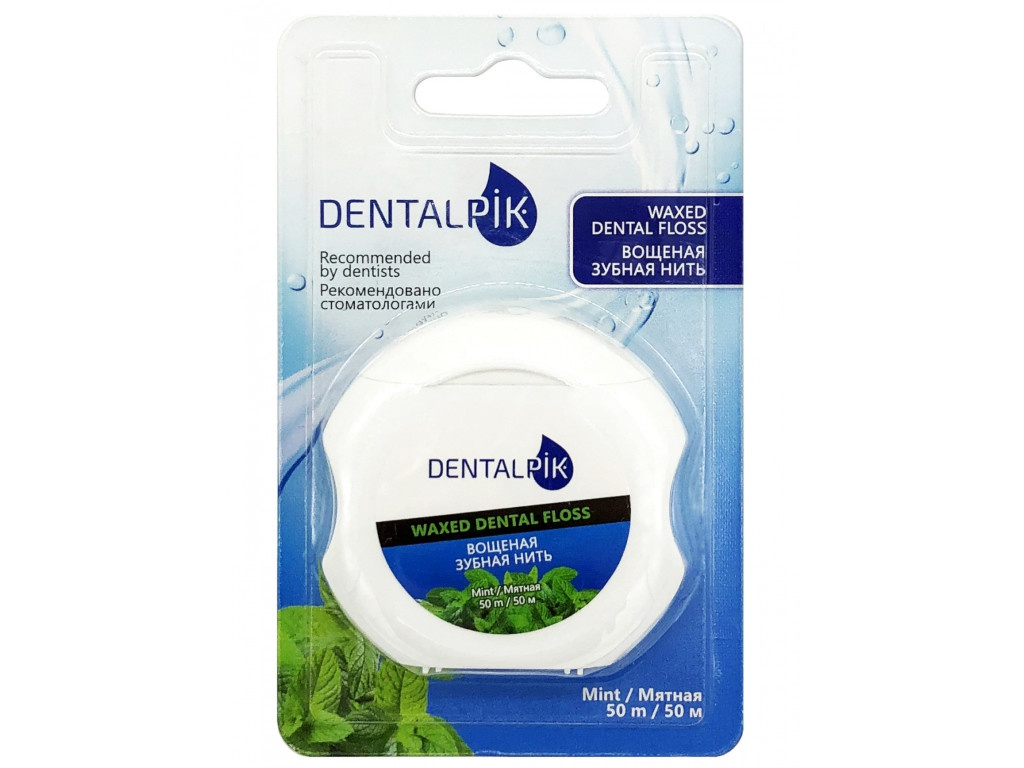 Зубная нить Dentalpik Floss Mint Waxed 05.4324