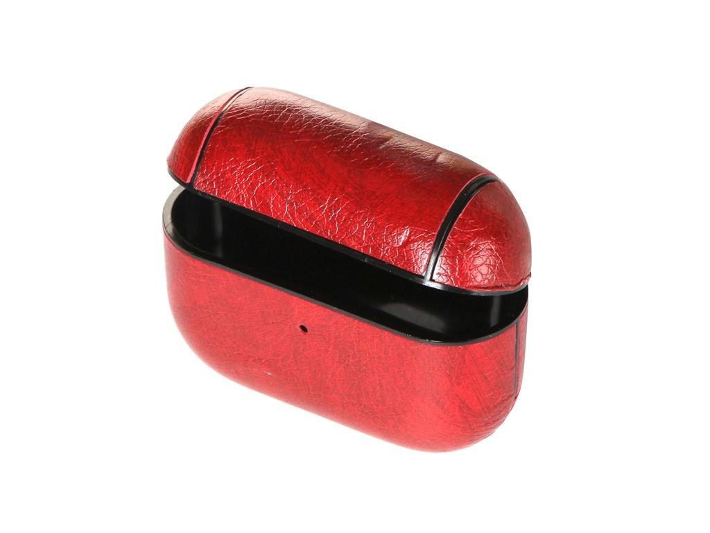 Чехол Gurdini Leather Series с карабином для Airpods Pro Red 911131