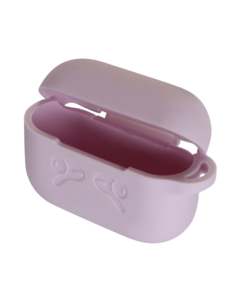 Чехол Gurdini Rubberized Soft Touch c карабином для Airpods Pro Lilac 911082