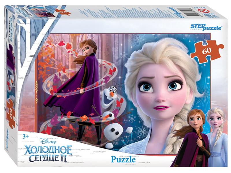 цена на Пазл Step Puzzle Disney Холодное сердце 2 60 эл. 81189 / 295462