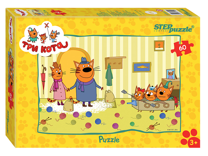 Пазл Step Puzzle Три кота 60 эл. 81152 / 274458