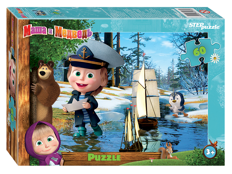 Пазл Step Puzzle Маша и Медведь-2 60 эл. 81177 / 289016
