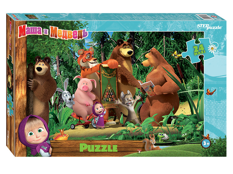 Пазл Step Puzzle Maxi Маша и Медведь-2 24 эл. 90048 / 289014