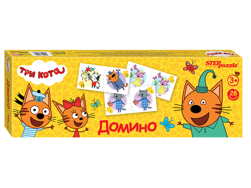 Настольная игра Step Puzzle Домино Три Кота 80122 / 280092