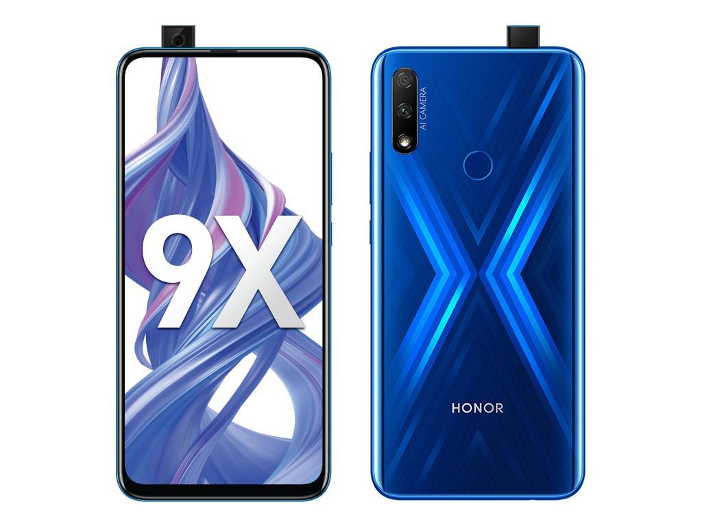 Сотовый телефон Honor 9X 4Gb/128Gb Blue Выгодный набор для Selfie + серт. 200Р!!!