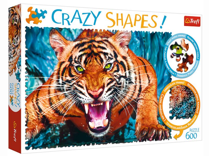Пазл Trefl Crazy Shapes. Лицом к лицу с тигром 600 эл. TR11110 / 292380