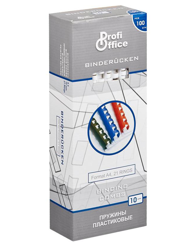 Пружины для переплета ProfiOffice 10mm 100шт White 4348
