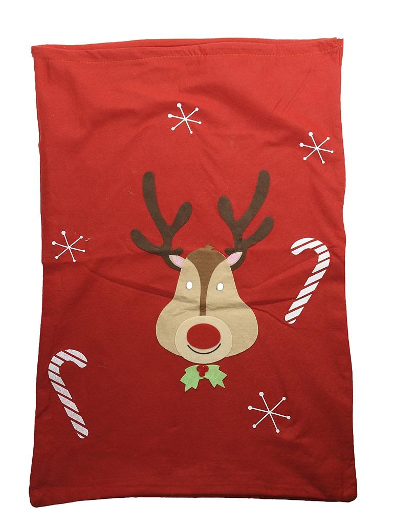 Новогодний мешок для подарков Kaemingk Олень 50x75cm 155953