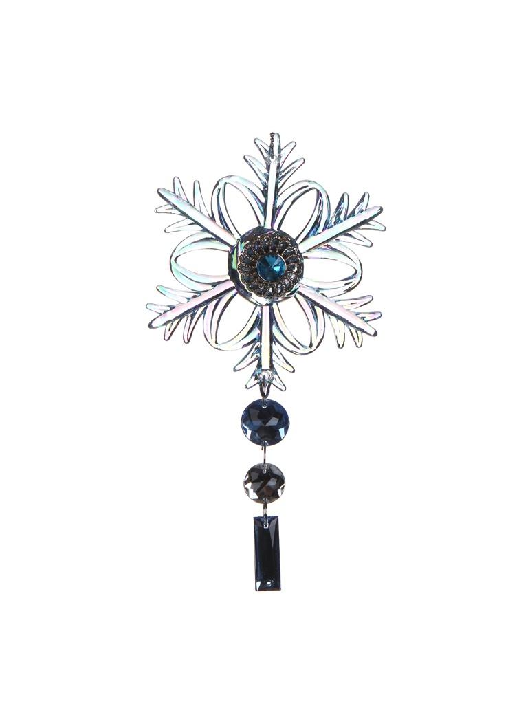 Украшение Crystal Deco Снежинка Экзотика 12.7cm Light Blue with Rainbow 162722