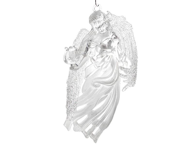 Украшение Crystal Deco Ангел с лирой 11.4cm Silver 150735