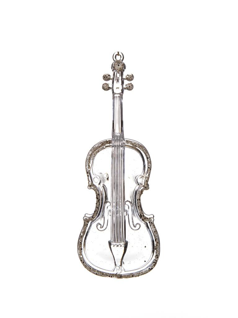 Украшение Crystal Deco Струнный инструмент, контрабас 16cm Transparent Gold 190488 вышивальная машина bernina deco 340