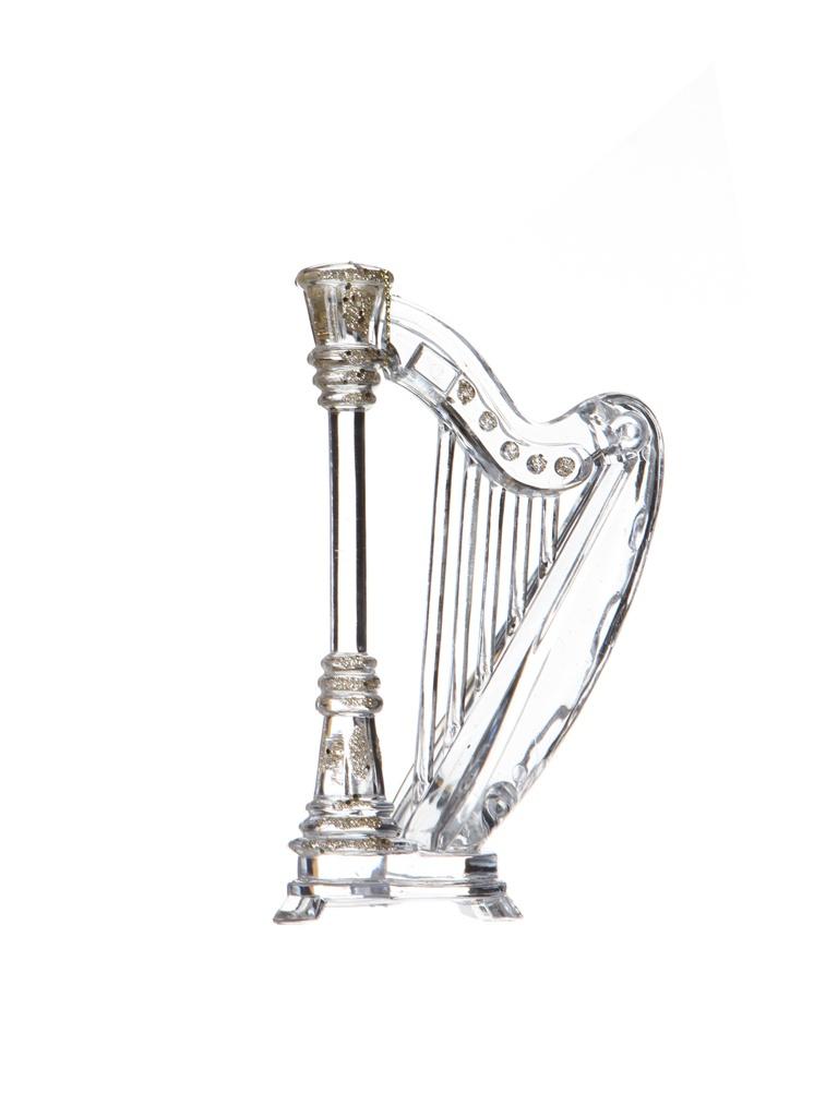 Украшение Crystal Deco Струнный инструмент, арфа 16cm Transparent Gold 190488