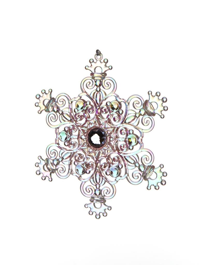 Украшение Crystal Deco Снежинка Королевский шарм 12.7cm Transparent-Rainbow 190987