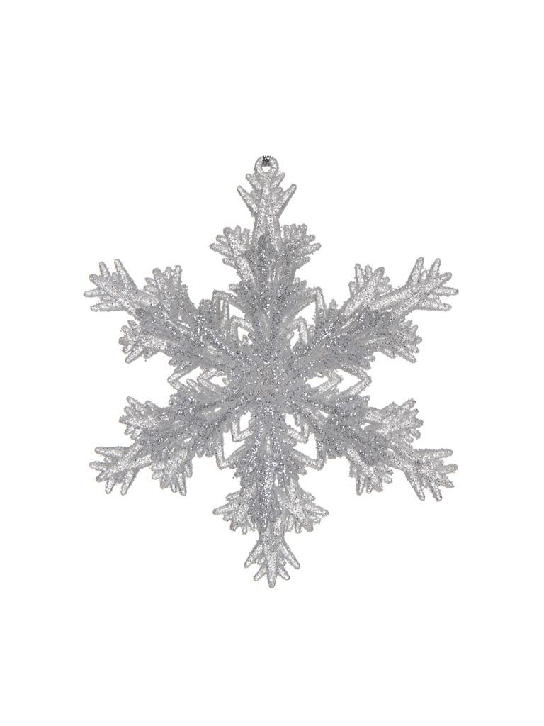 Украшение Crystal Deco Снежинка Пушистые лучики 12.7cm Light Silver 190813