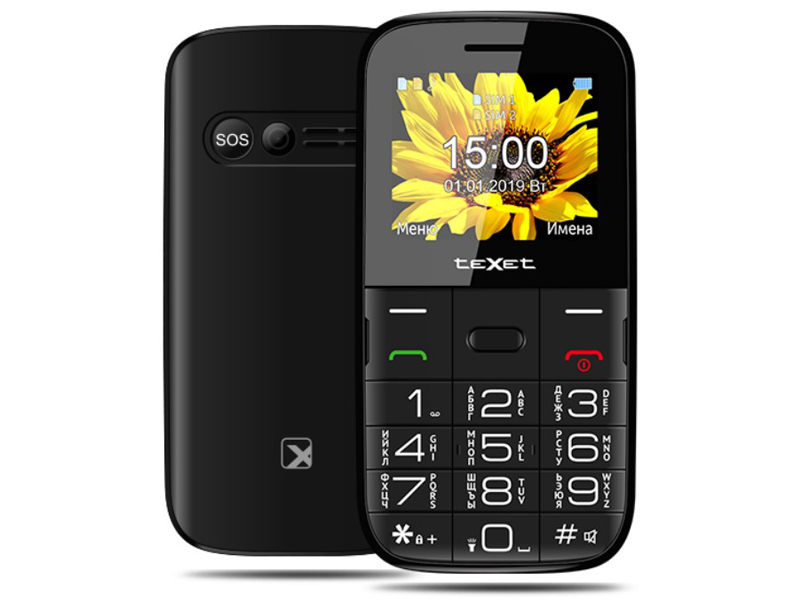 Сотовый телефон teXet TM-B227 Black цена 2017