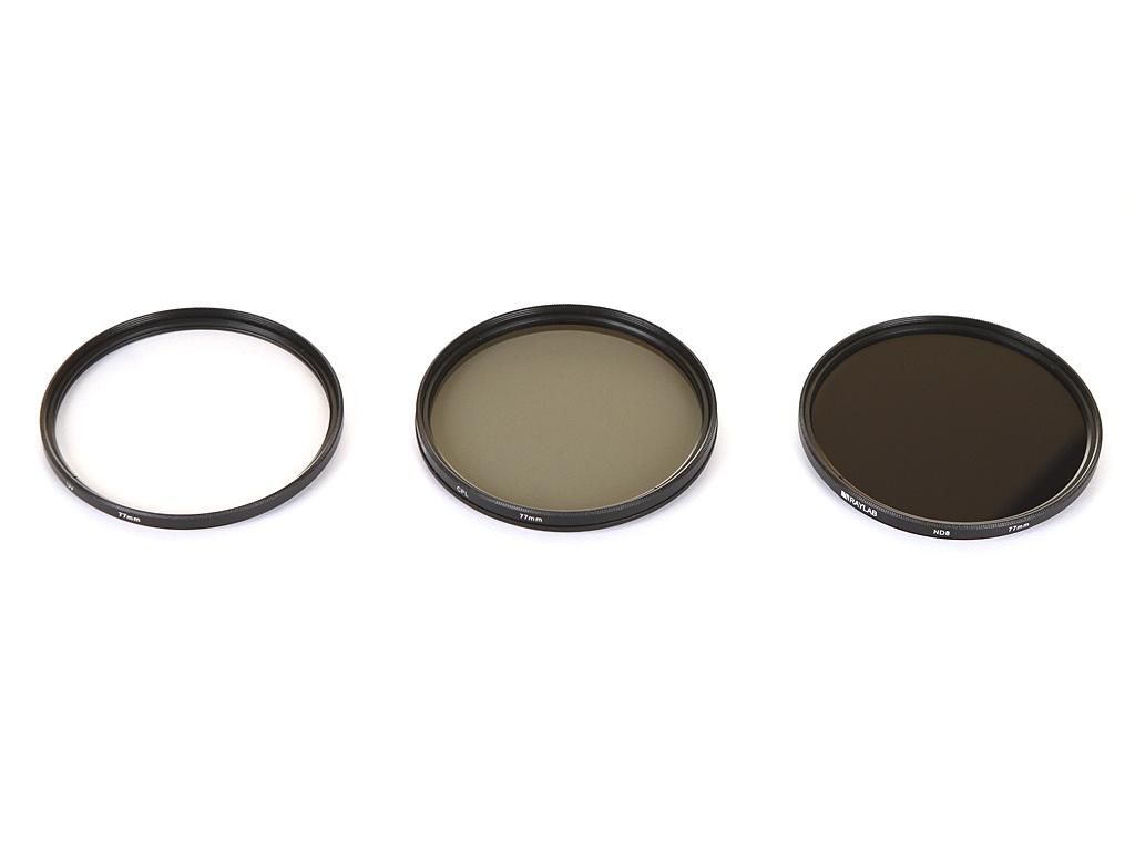 Zakazat.ru: Светофильтр Raylab UV/CPL/ND8 77mm - набор светофильтров RLK-UVNDCPL77
