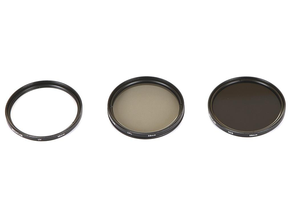Светофильтр Raylab UV/CPL/ND8 58mm - набор светофильтров RLK-UVNDCPL58