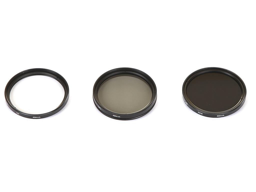 Светофильтр Raylab UV/CPL/ND8 49mm - набор светофильтров RLK-UVNDCPL49 цена и фото