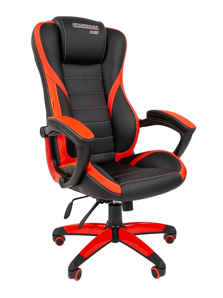 Компьютерное кресло Chairman Game 22 Black-Red