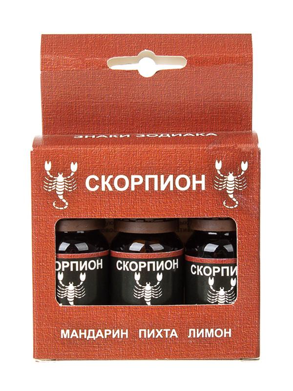 Масло эфирное Бацькина баня Зодиак Скорпион Набор: мандарин, пихта, лимон 16086