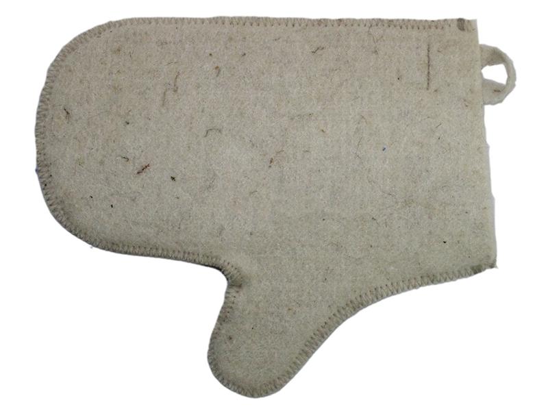 Рукавица для бани Бацькина баня White 12001