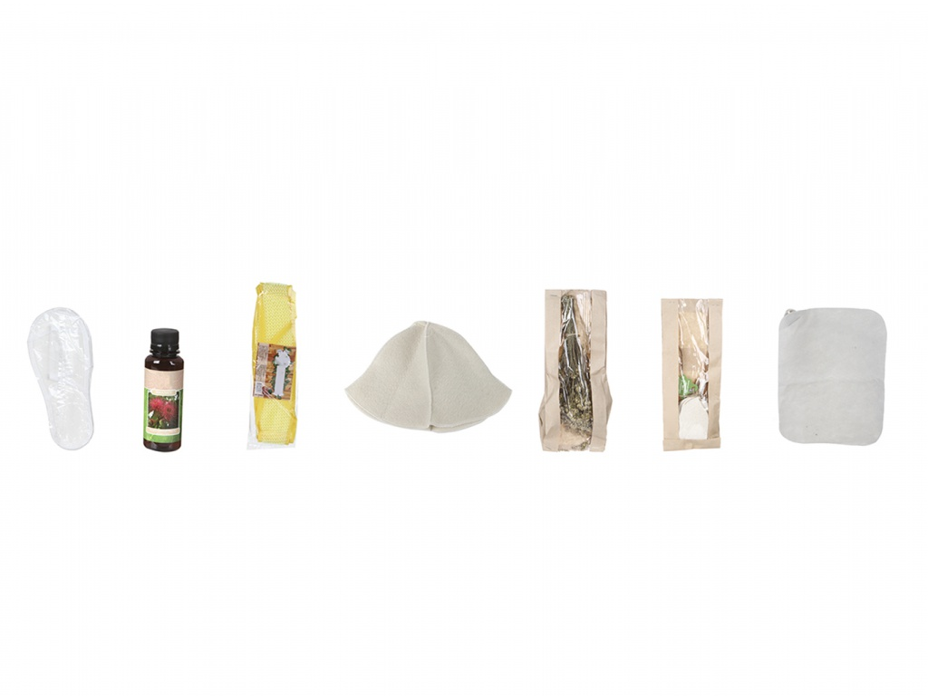 Набор для бани Бацькина баня Натуральные ароматы: шапка, коврик из войлока, ароматизатор, мочалка, тапочки 18031 тапочки ecology sauna из толстого войлока с непромокаемой подошвой цвет серый синий