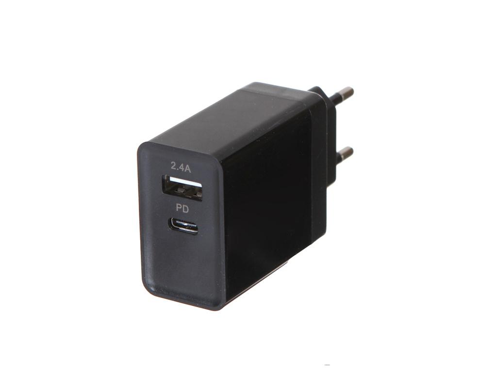 Зарядное устройство Red Line Power Delivery PD-3A UFC Tech USB + Type-C Black УТ000018913