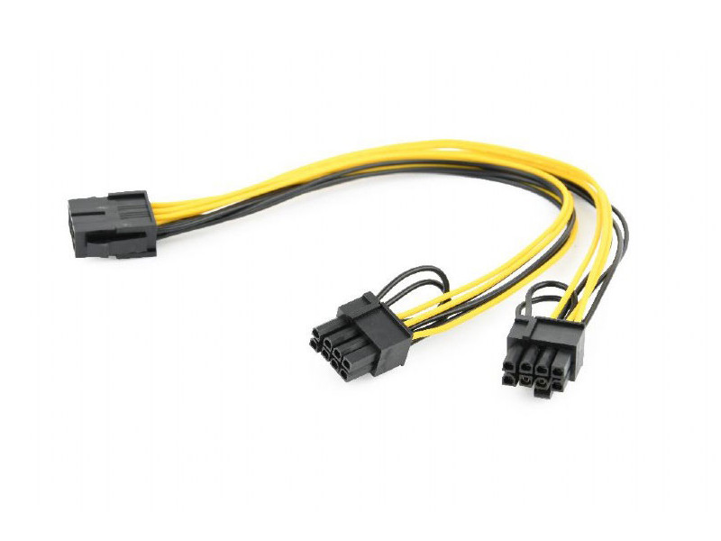 Аксессуар Кабель питания Gembird Cablexpert PCI-Express 2x6+2pin/M to 6pin/F 30cm CC-PSU-85