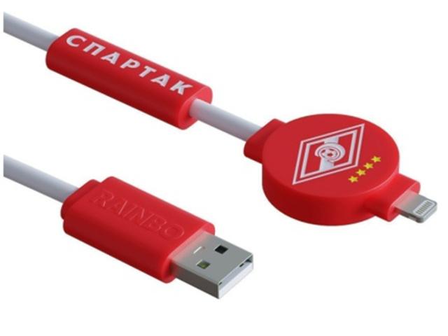 Фото - Аксессуар Зарядный кабель Rainbo Спартак Питон Lightning 1m RBP-SL001 аксессуар