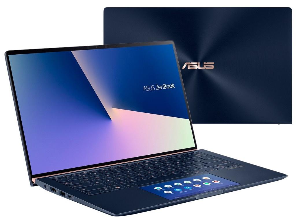 Ноутбук ASUS Zenbook UX434FLC-A6227T 90NB0MP1-M04820 (Intel Core i7-10510U 1.8GHz/16384Mb/512Gb SSD/nVidia GeForce MX250 2048Mb/Wi-Fi/Bluetooth/Cam/14.0/1920x1080/Windows 10 64-bit) ноутбук