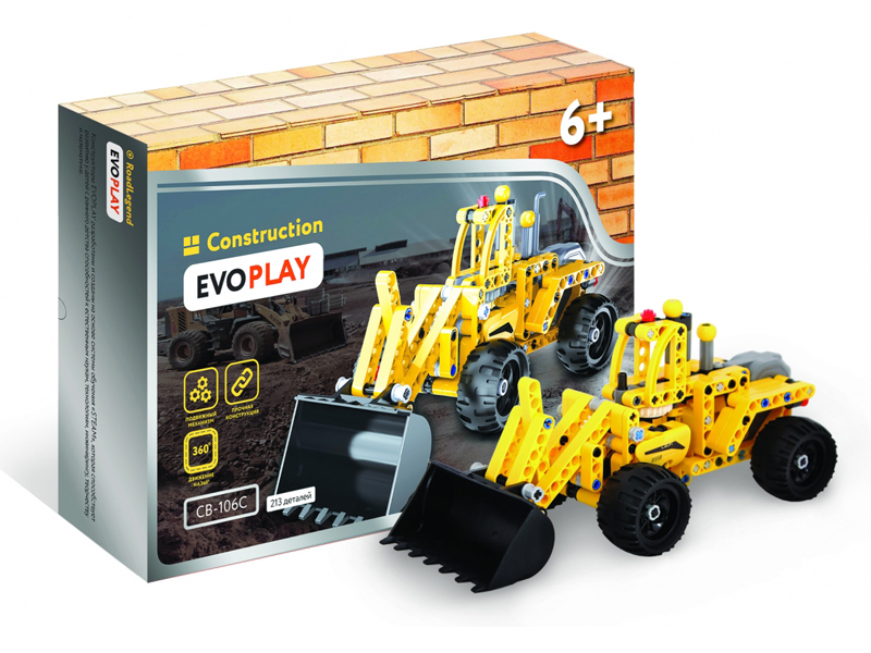 Конструктор Evoplay Wheel Loader 213 дет. CB-106C