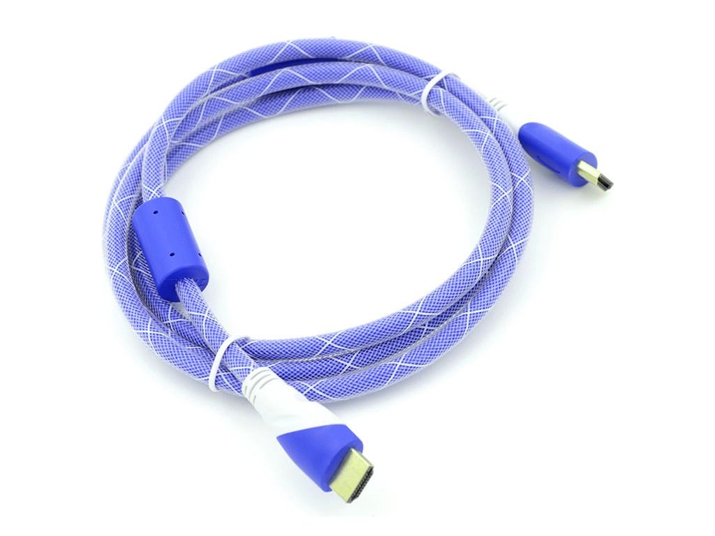 Аксессуар Behpex HDMI 19M - Ver1.4 Blue-White Jack 1.8m