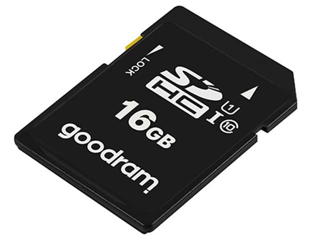 Карта памяти 16Gb - GoodRAM Secure Digital HC Class 10 UHS-I V10 S1A0-0160R12
